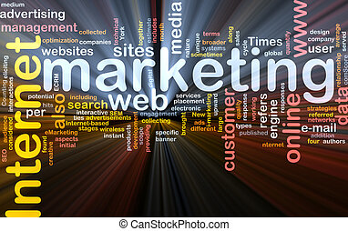 Software package box Word cloud concept illustration of internet marketing