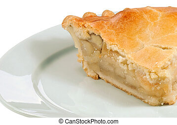 isolated Apple Pie close up