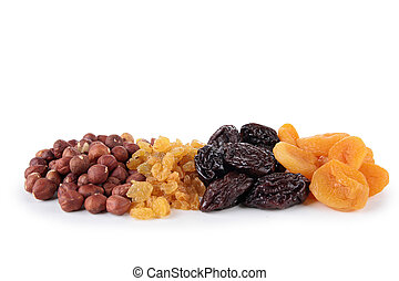 isolated dried fruit