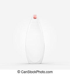 Isolated shower gel or shampoo bottle mockup