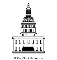 Isolated usa capitol vector design