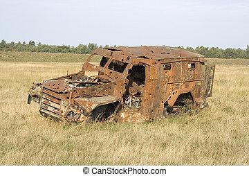 jeep wrack an a trainings area
