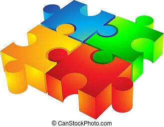 Jigsaw: 3d icon