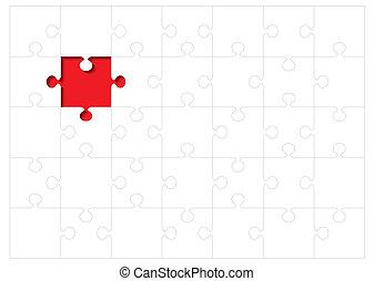 jigsaw outline concept