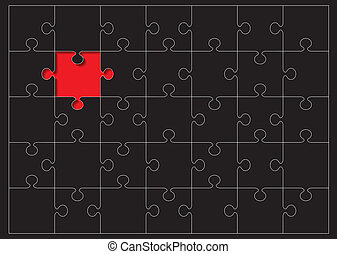 jigsaw outline missing