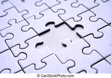 Jigsaw pattern with one missing element
