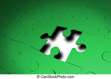 Missing the last piece to 3D jigsaw puzzle