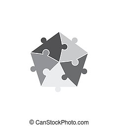 jigsaw puzzle pieces background