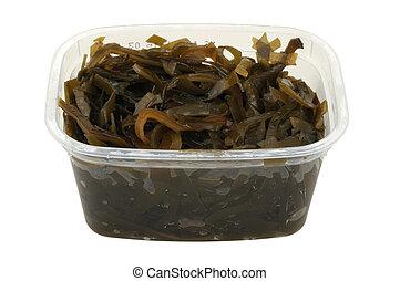 kelp salad in a plastic pot