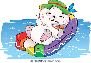 Funny card on vacation in vector. This image is a vector illustration and can be scaled to any size without loss of resolution.
