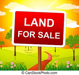 Land For Sale Showing Real Estate Agent And Property