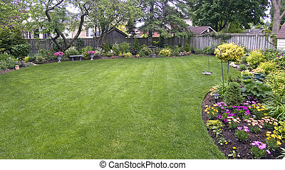 landscaped lawn