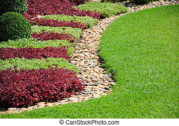 Landscaped Yard and Garden A beautiful landscaped yard and garden