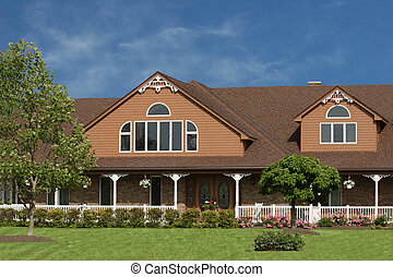 Large Brown House