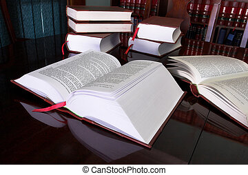Legal books on table - South African Law Reports