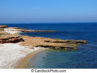 Les Rotes, beach in Denia, Spain.