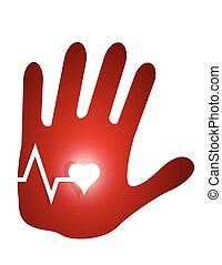 lifeline hand illustration design