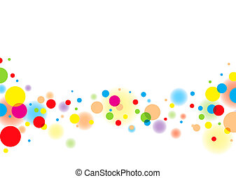 Subtle colorful bubble background with white copyspace and blur effect