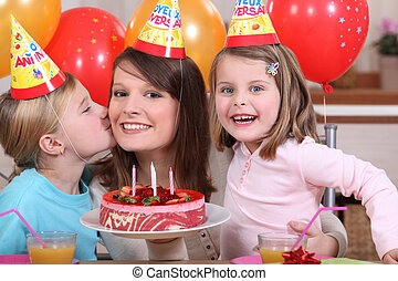 Little girl's birthday party