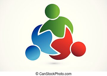Logo teamwork trial business people