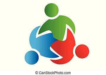 Logo teamwork trial partners people