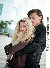 Love - young couple together