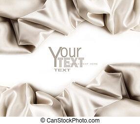 Luxurious satin fabric on white background