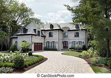 Luxury home with circular driveway