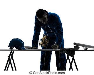 man construction Architect silhouette