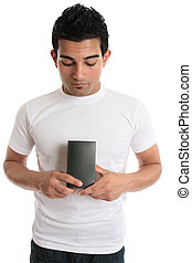 Man holding a box product