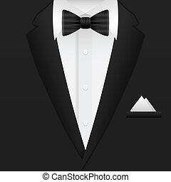 Man formal suit background. Vector illustration.