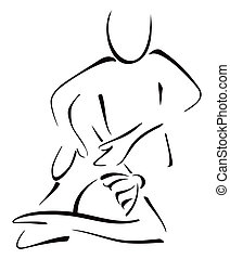 Massage on woman