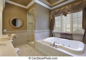 Master bath in elegant home