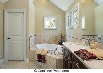 Master bath with tub design area