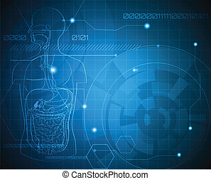 Abstract gastrointestinal system wallpaper