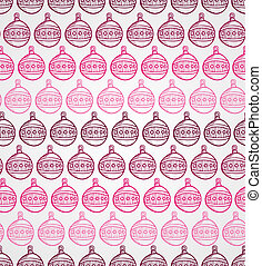 Merry Christmas bauble seamless pattern background. EPS10 file.