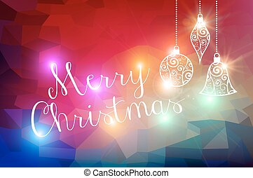 Merry Christmas bokeh lights background