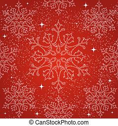 Merry Christmas snowflakes seamless pattern background.