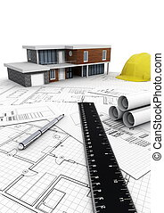 Modern House construction
