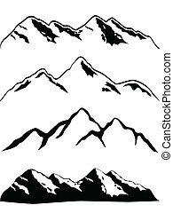 Various high mountain peaks