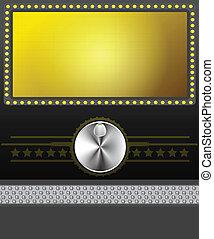 movie banner or screen Vector illustration