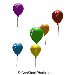 balloons with question-mark