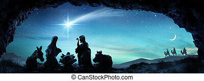 Nativity Of Jesus - Scene With The Holy Family