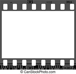 35mm negative frame, with details and accurate dimension.