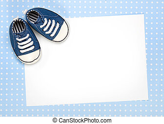 Blank card for new baby or party invitation