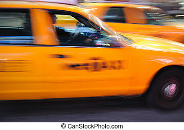 New York Taxi cab Times Square