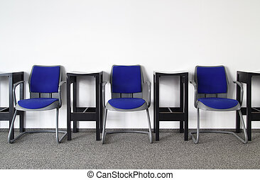 Chairs in Ordinary Empty Waiting Room