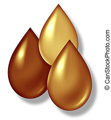 Oil drops symbol representing the oil gas and mining industries.