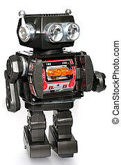 Old toy tin robot