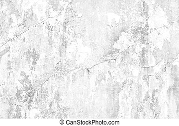 Old white grunge concrete wall background with crack texture from color paint